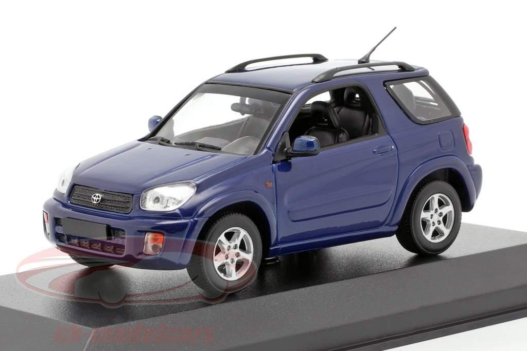 Toyota RAV4 Ano de construção 2000 azul escuro metálico 1:43 Minichamps