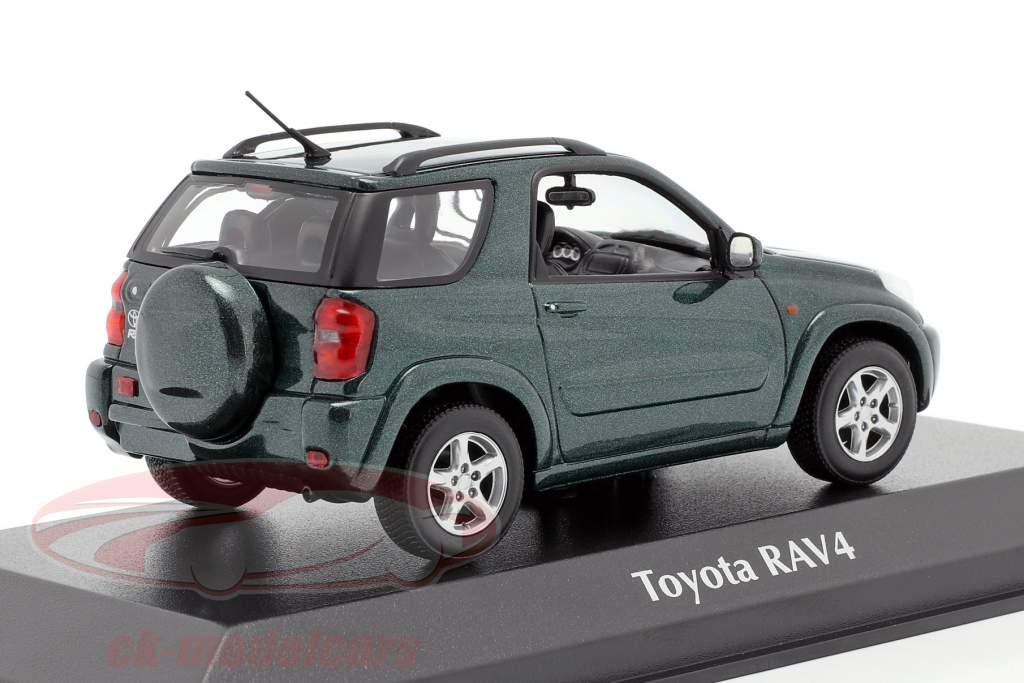 Toyota RAV4 Año de construcción 2000 verde oscuro metálico 1:43 Minichamps
