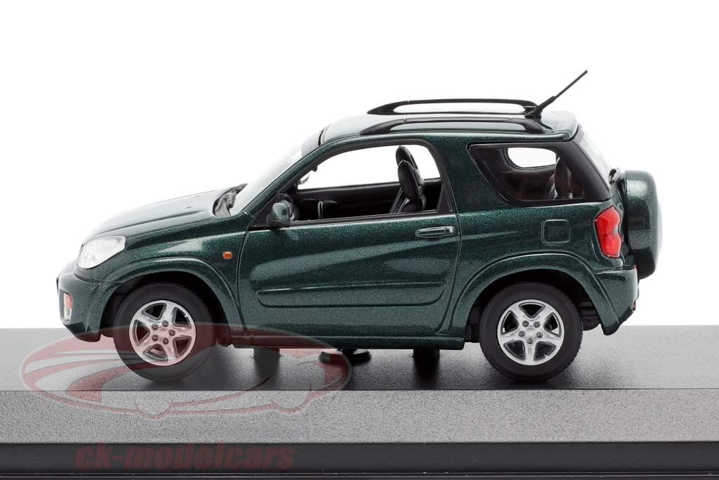 Toyota RAV4 Année de construction 2000 vert foncé métallique 1:43 Minichamps
