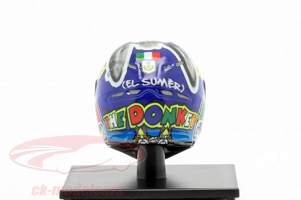 Valentino Rossi Winnaar Misano MotoGP Wereldkampioen 2009 AGV helm 1:10 Minichamps