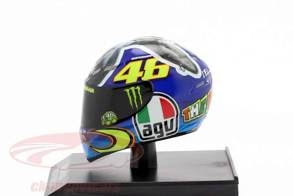 Valentino Rossi Vencedora Misano MotoGP Campeão mundial 2009 AGV capacete 1:10 Minichamps