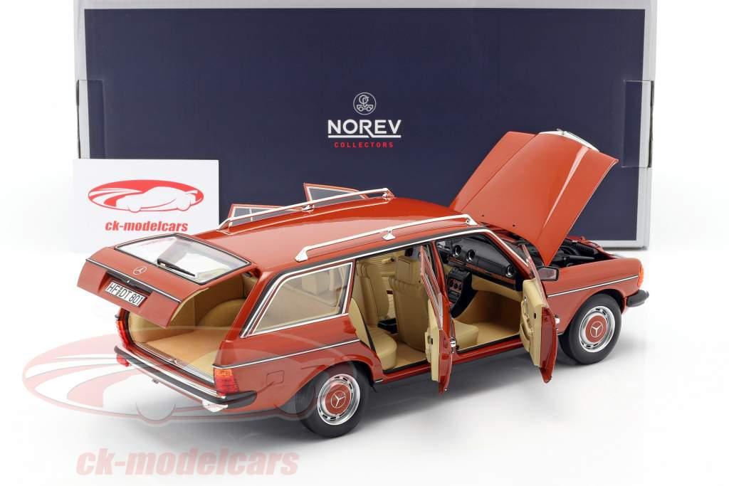 Mercedes-Benz 200 T (S123) Ano de construção 1982 Inglês vermelho 1:18 Norev