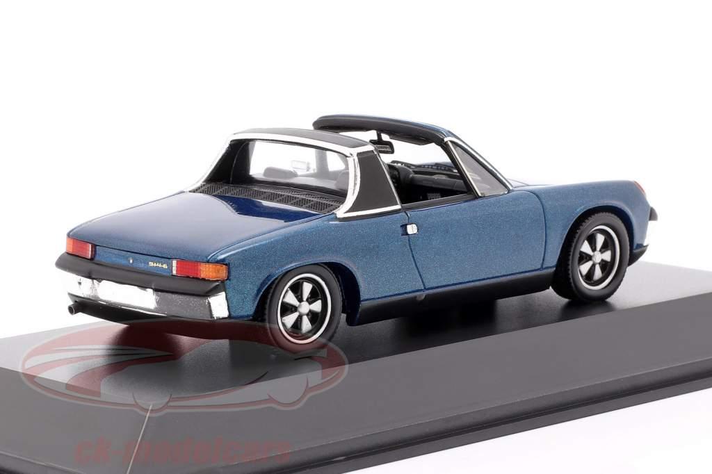 Porsche 914/6 Année de construction 1973 bleu métallique 1:43 Spark