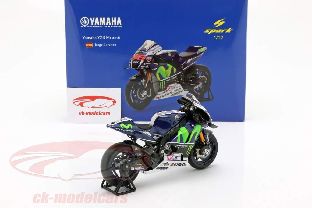 Jorge Lorenzo Yamaha YZR-M1 #99 Vencedora França MotoGP 2016 1:12 Spark / 2nd escolha