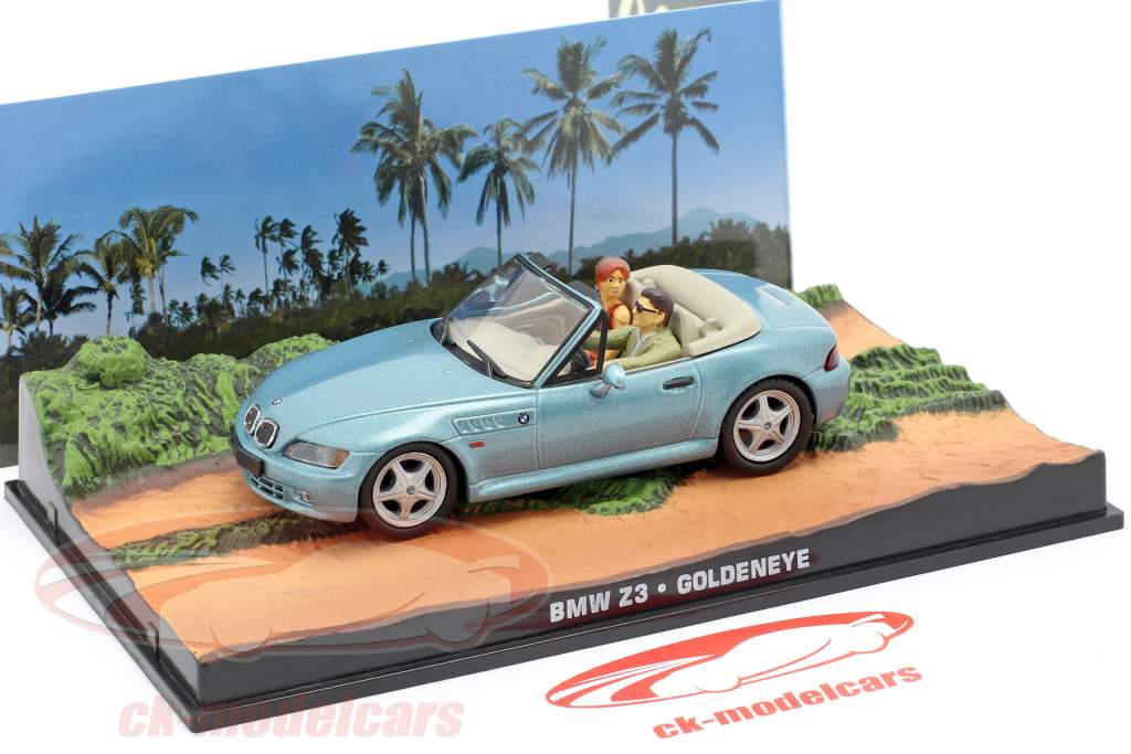 BMW Z3 James Bond Movie Car Goldeneye hellblau metallic 1:43 Ixo