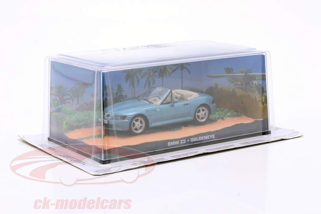 BMW Z3 James Bond Film Macchina Goldeneye Azzurro metallico 1:43 Ixo