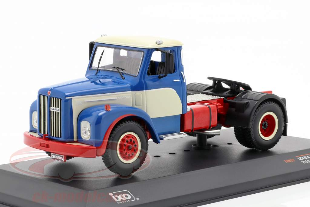 Scania 110 Super Camión Año de construcción 1953 azul / Blanco / rojo 1:43 Ixo