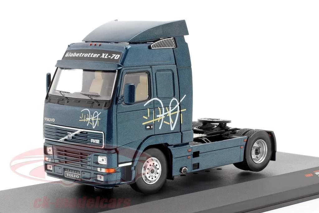 Volvo FH 12 Vrachtwagen Bouwjaar 1994 donkerblauw metalen 1:43 Ixo