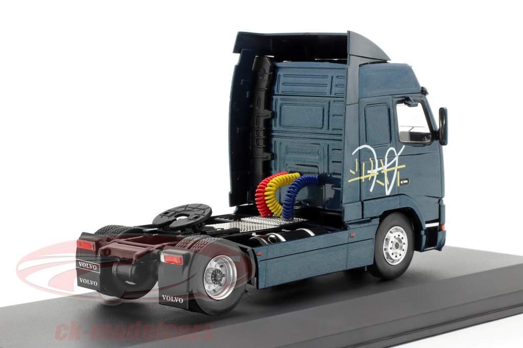 Volvo FH 12 lastbil Byggeår 1994 mørkeblå metallisk 1:43 Ixo
