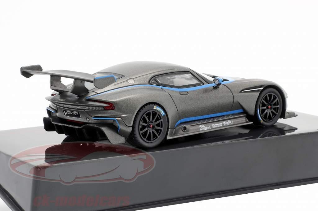 Aston Martin Vulcan Bouwjaar 2015 mat Grijs metalen 1:43 Ixo