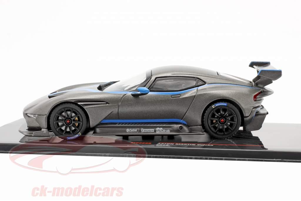 Aston Martin Vulcan Año de construcción 2015 estera gris metálico 1:43 Ixo
