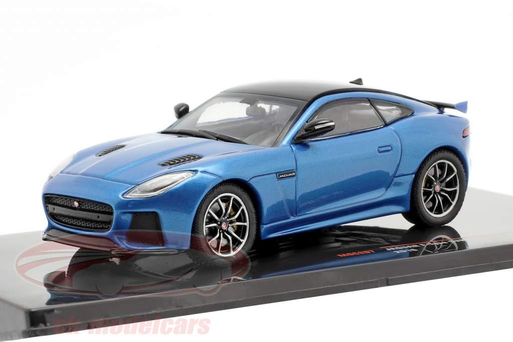 Jaguar F-Type SVR year 2016 blue metallic / black 1:43 Ixo