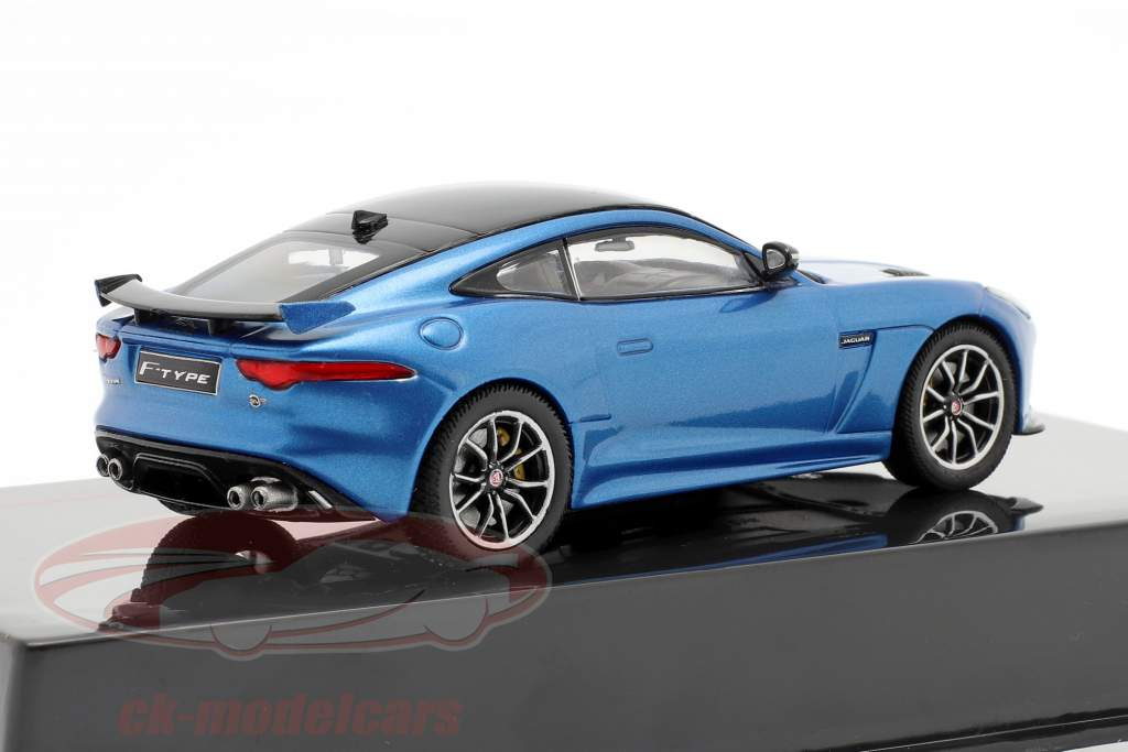 Jaguar F-Type SVR Année de construction 2016 bleu métallique / noir 1:43 Ixo