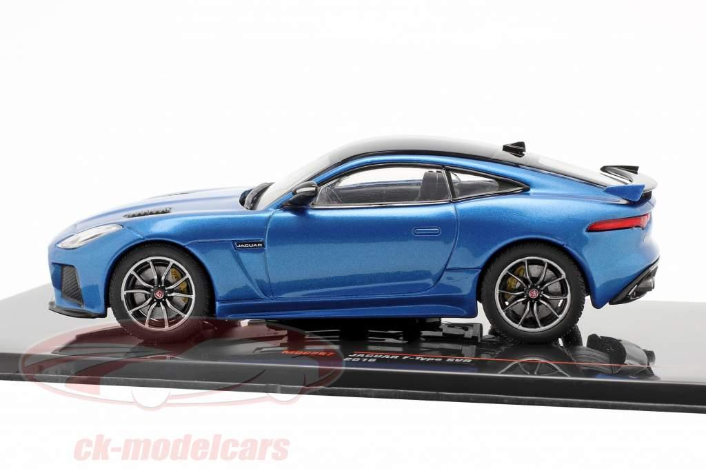 Jaguar F-Type SVR Byggeår 2016 blå metallisk / sort 1:43 Ixo