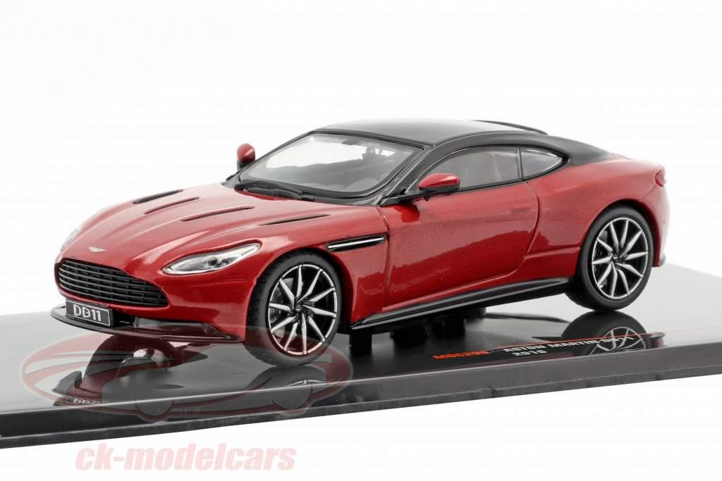 Aston Martin DB11 Año de construcción 2016 rojo metálico / negro 1:43 Ixo