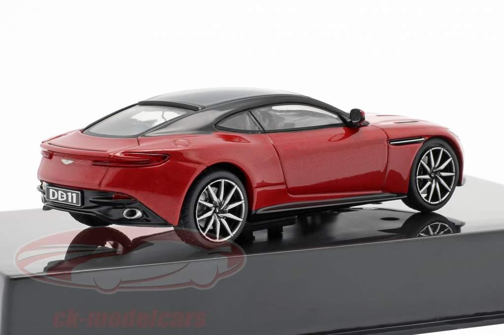 Aston Martin DB11 Anno di costruzione 2016 rosso metallico / nero 1:43 Ixo