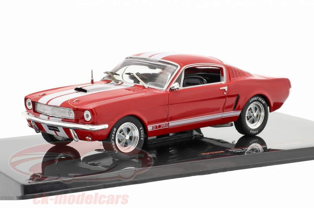 Ford Mustang Shelby GT 350 Año de construcción 1965 rojo / Blanco 1:43 Ixo