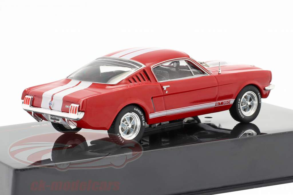 Ford Mustang Shelby GT 350 Année de construction 1965 rouge / blanc 1:43 Ixo