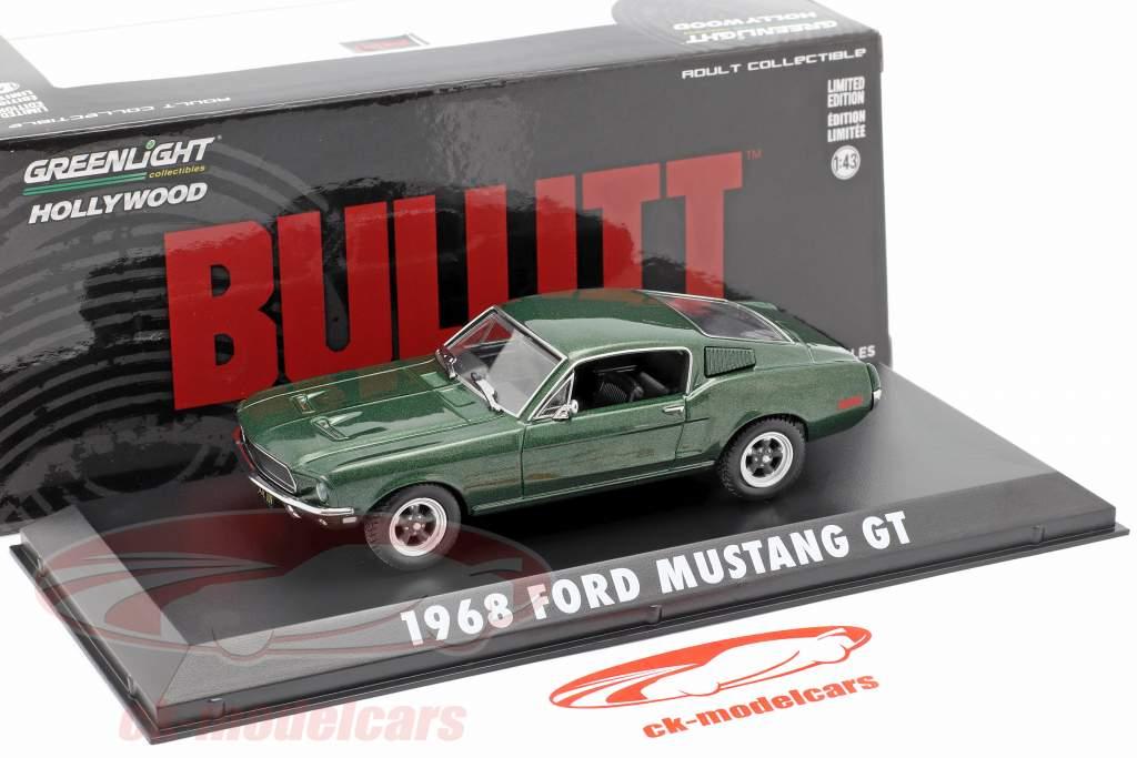 Ford Mustang GT Steve McQueen de la película Bullitt 1968 verde metálico 1:43 Greenlight