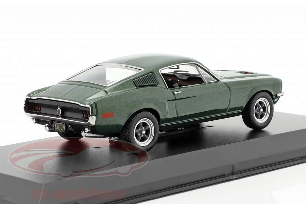 Ford Mustang GT Steve McQueen de o filme Bullitt 1968 verde metálico 1:43 Greenlight