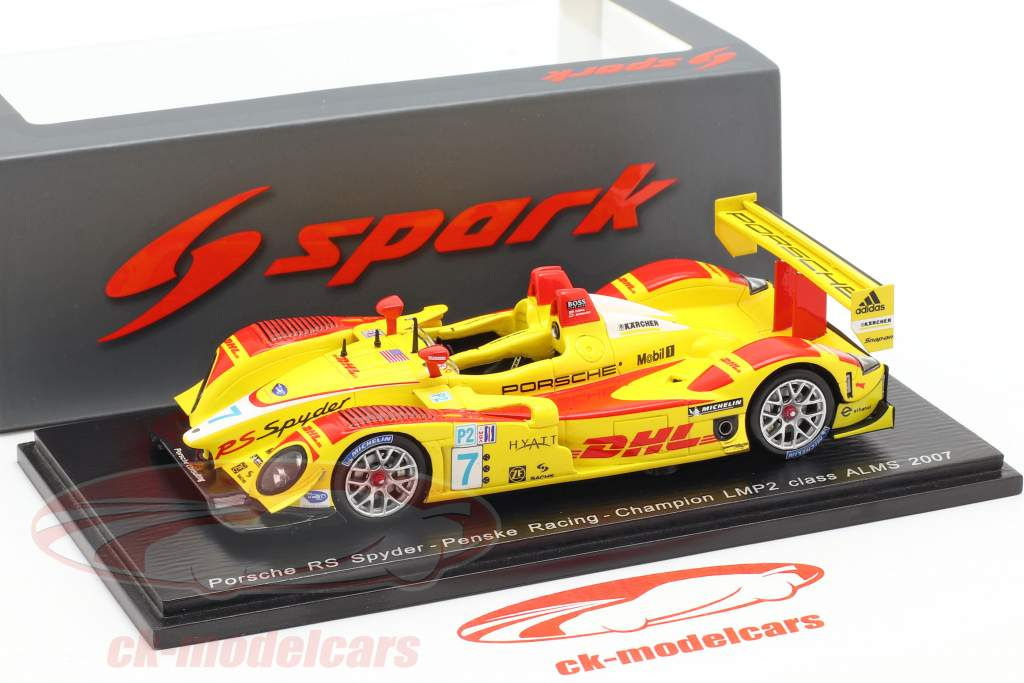 Porsche RS Spyder #7 Champion LMP2 Class ALMS 2007 1:43 Spark / 2. Wahl