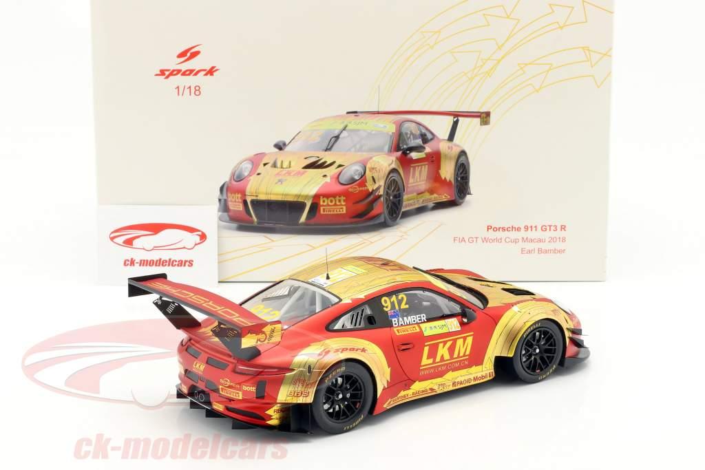 Porsche 911 GT3 R #912 4th FIA GT World Cup Macau 2018 1:18 Spark / 2. Wahl