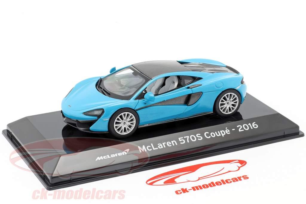 McLaren 570S Coupe Baujahr 2016 blau metallic / schwarz 1:43 Altaya