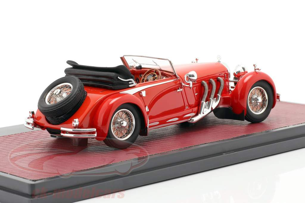 Mercedes-Benz 680S Armbruster Roadster Open year 1928-1932 red 1:43 Matrix