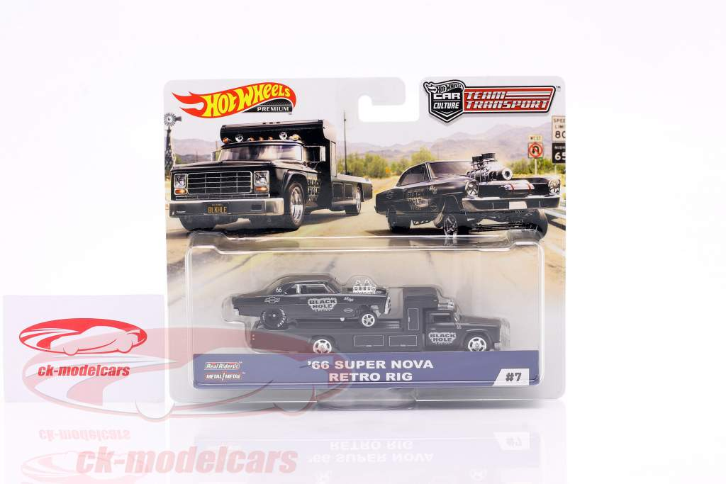 Set Team Transport: Super Nova 1966 & Retro RIG 1:64 HotWheels