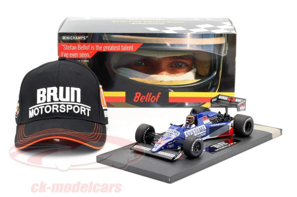 S. Bellof Tyrrell 012 #4 GP Zandvoort formule 1 1984 avec chapeau 1:18 Minichamps