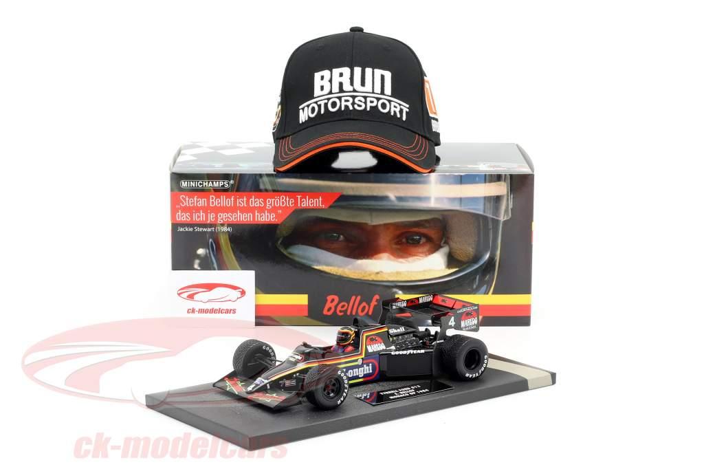 Stefan Bellof Tyrrell 012 #4 Monaco GP formule 1 1984 met pet 1:18 Minichamps