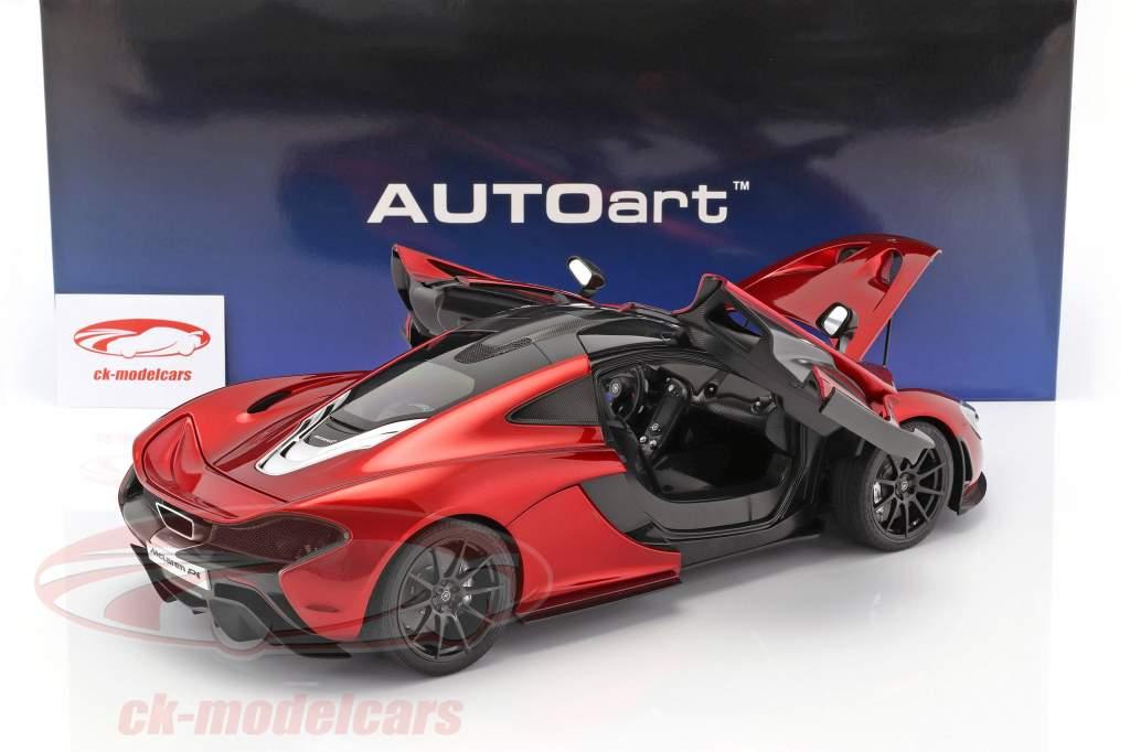 McLaren P1 Bouwjaar 2013 vulkaan rood 1:12 AUTOart