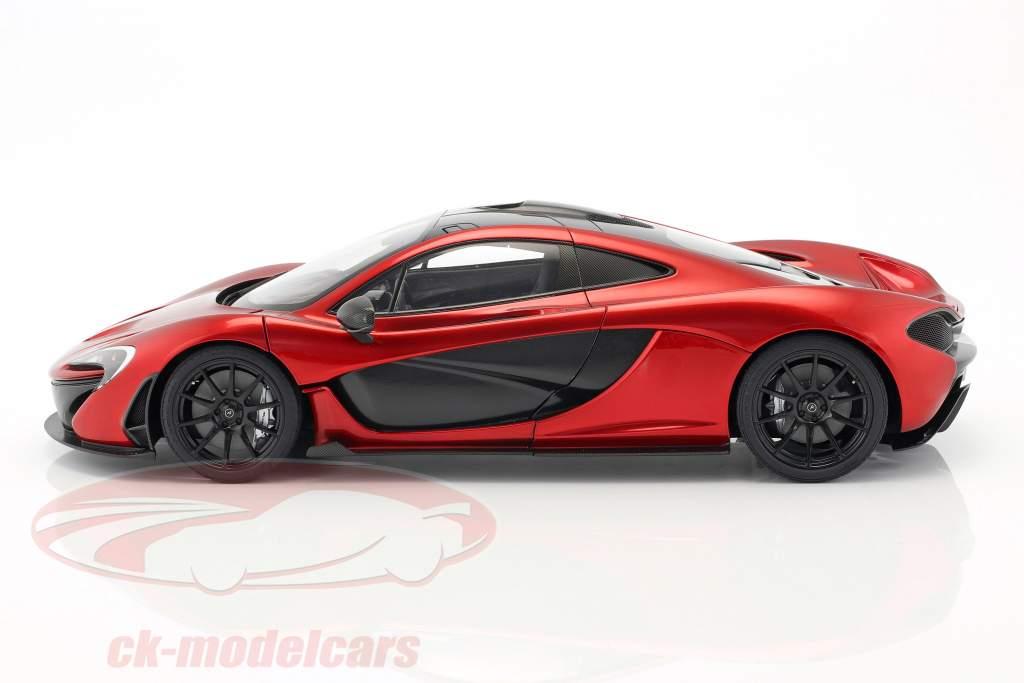 McLaren P1 ano de construção 2013 vulcão vermelho 1:12 AUTOart