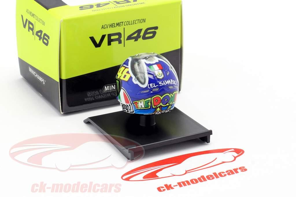 Valentino Rossi Vincitore Misano MotoGP Campione del mondo 2009 AGV casco 1:10 Minichamps