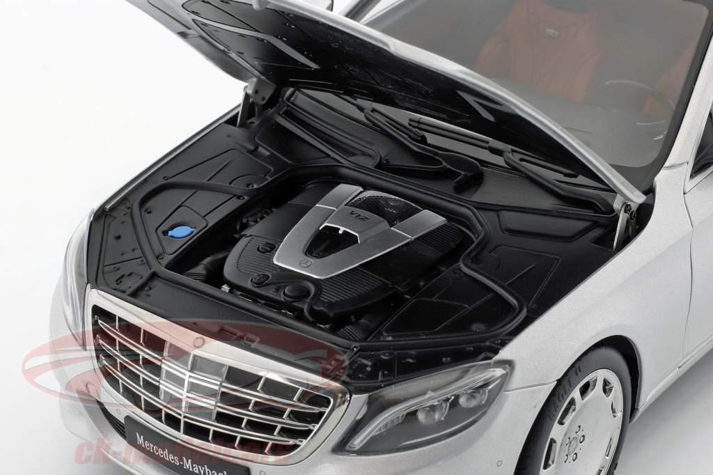 Mercedes-Benz Maybach S-Class SWB år 2015 sølv 1:18 AUTOart