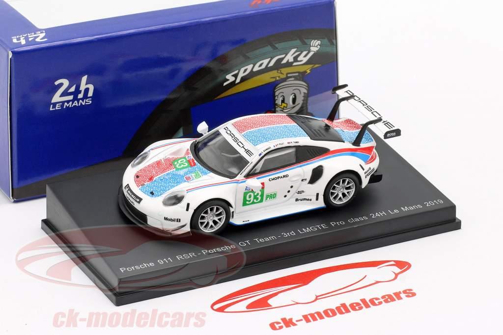 Porsche 911 RSR GTE #93 3ro LMGTE Pro 24h LeMans 2019 Porsche GT Team 1:64 Spark