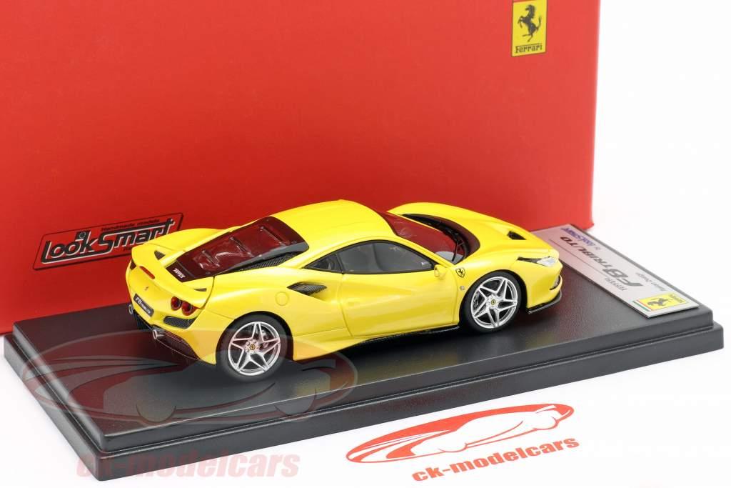 Ferrari F8 Tributo Bouwjaar 2019 geel metalen 1:43 LookSmart