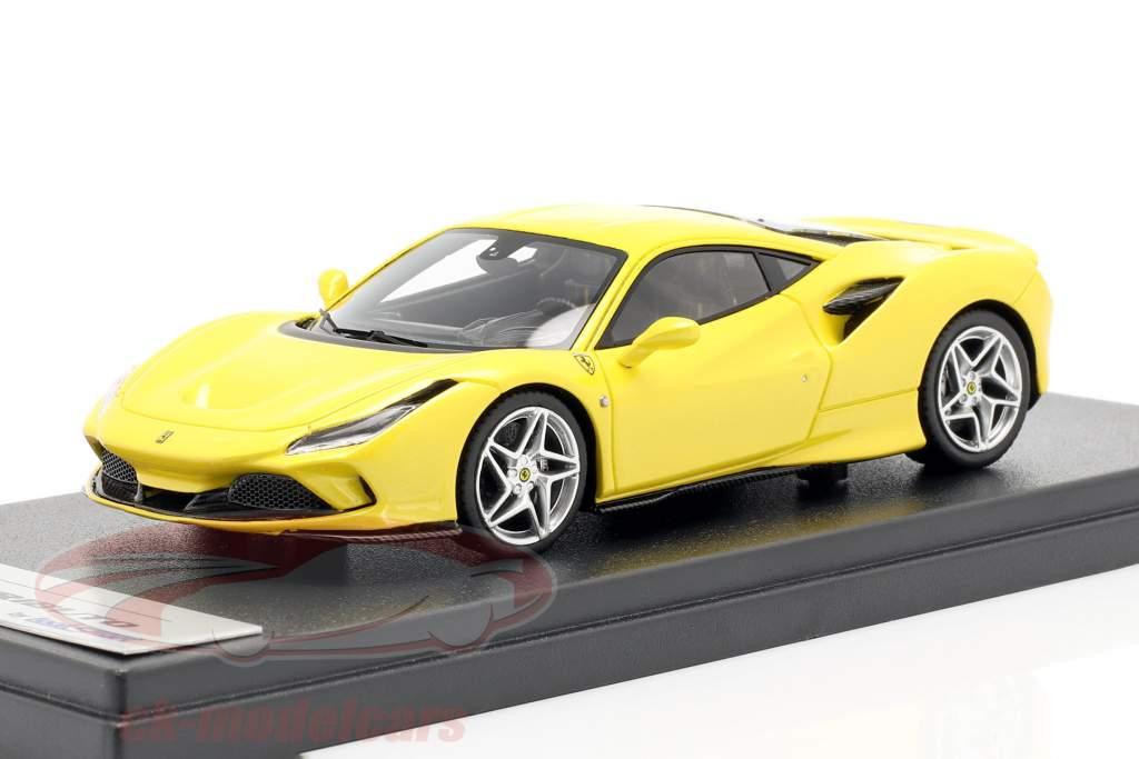 Ferrari F8 Tributo Byggeår 2019 gul metallisk 1:43 LookSmart