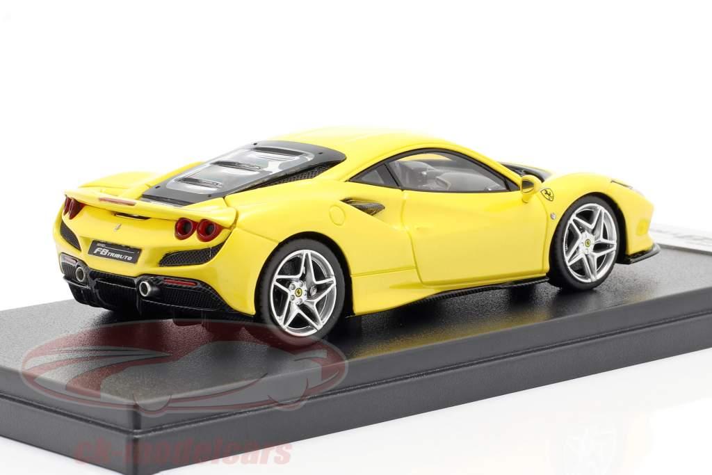 Ferrari F8 Tributo Année de construction 2019 Jaune métallique 1:43 LookSmart