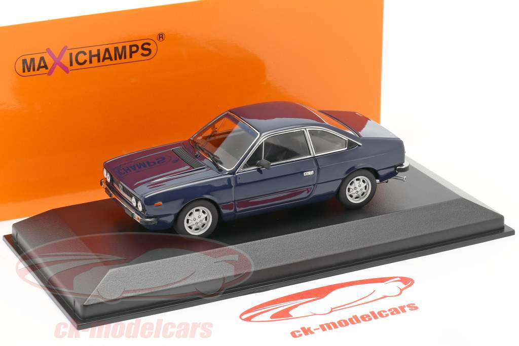 Lancia Beta Coupe Baujahr 1980 dunkelblau 1:43 Minichamps