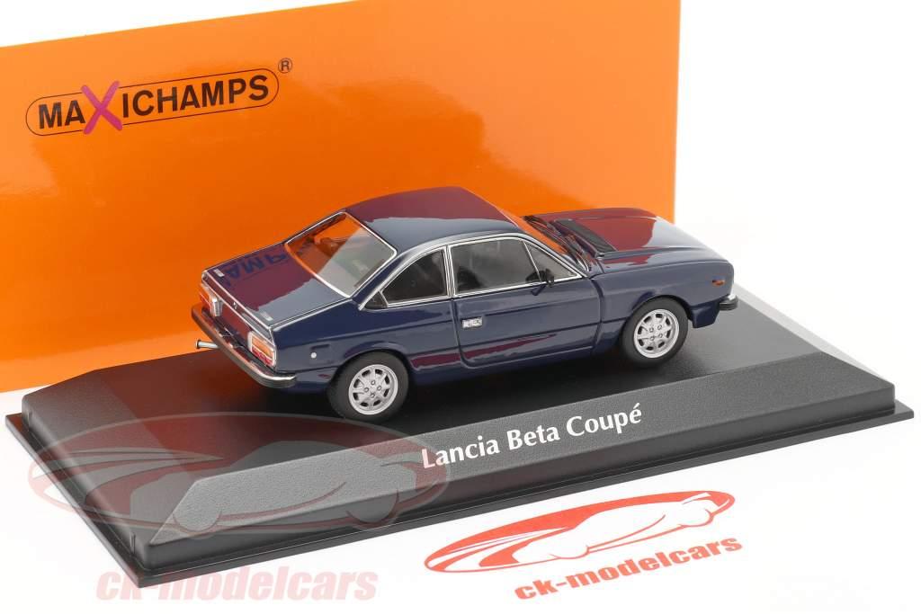 Lancia Beta Coupe Bouwjaar 1980 donkerblauw 1:43 Minichamps
