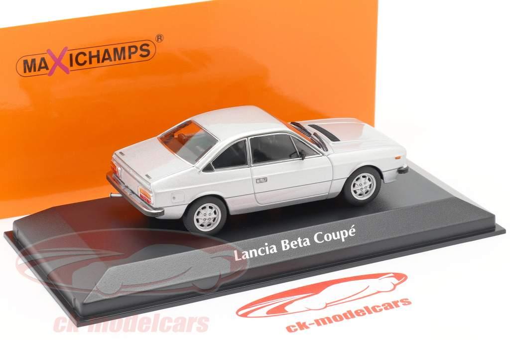Lancia Beta Coupe year 1980 silver 1:43 Minichamps