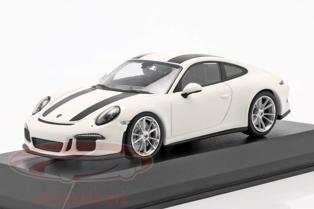 Porsche 911 R year 2016 white / black 1:43 Minichamps
