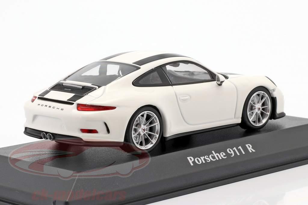 Porsche 911 R Année de construction 2016 blanc / noir 1:43 Minichamps