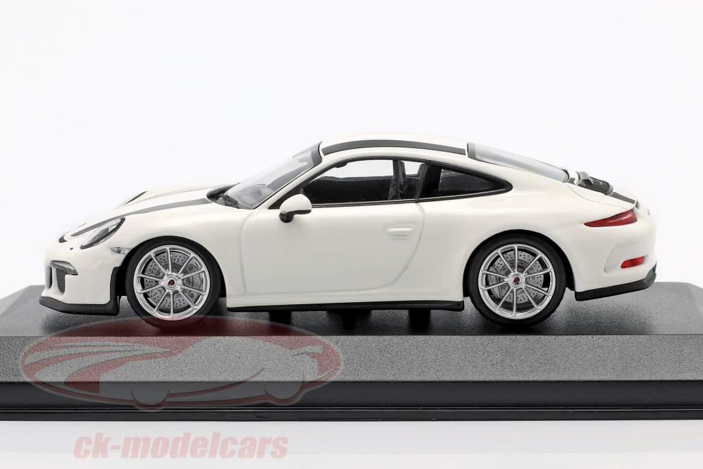 Porsche 911 R Baujahr 2016 weiß / schwarz 1:43 Minichamps