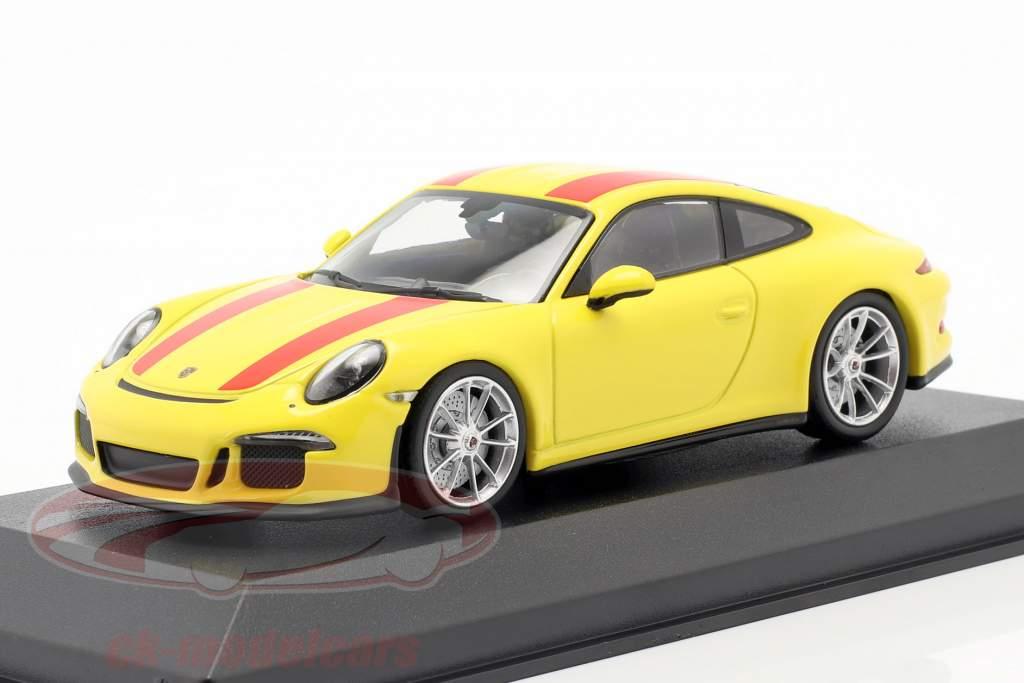 Porsche 911 R Anno di costruzione 2019 giallo / rosso 1:43 Minichamps
