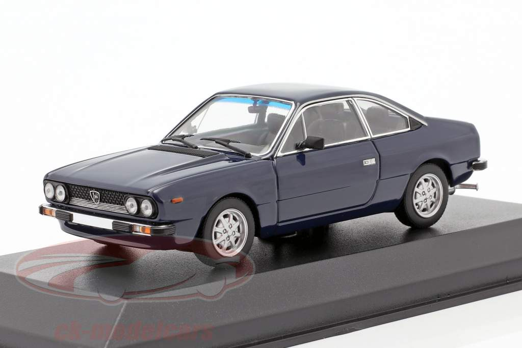 Lancia Beta Coupe Anno di costruzione 1980 blu scuro 1:43 Minichamps