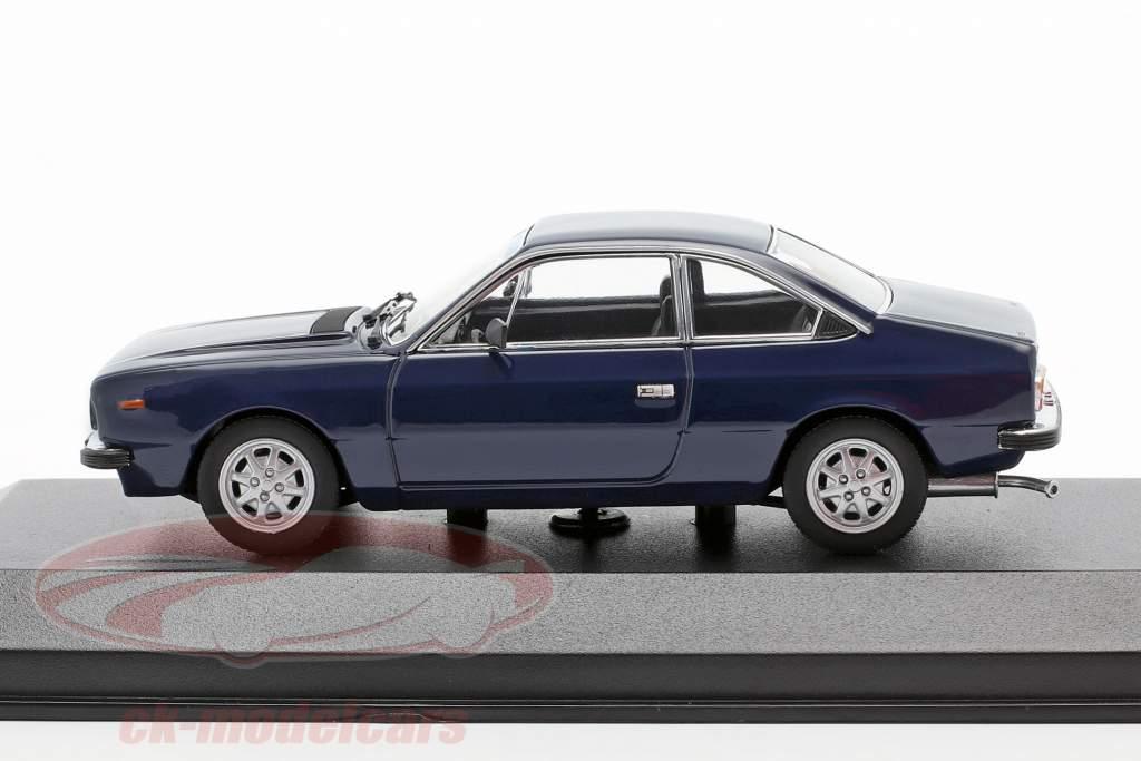 Lancia Beta Coupe Byggeår 1980 mørkeblå 1:43 Minichamps