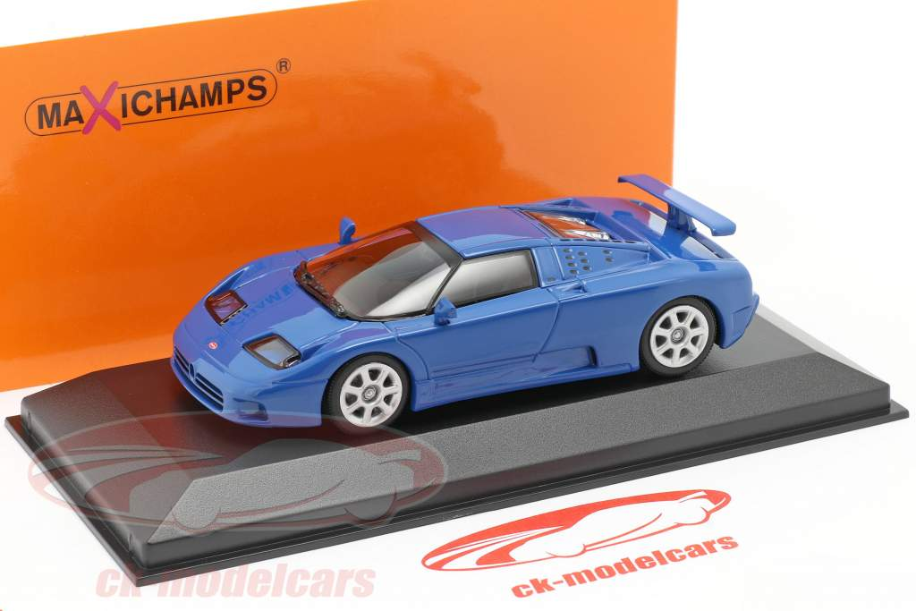 Bugatti EB 110 year 1994 blue 1:43 Minichamps