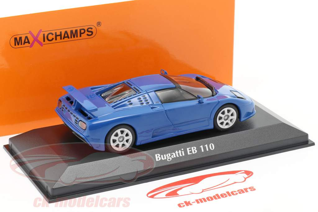Bugatti EB 110 år 1994 blå 1:43 Minichamps